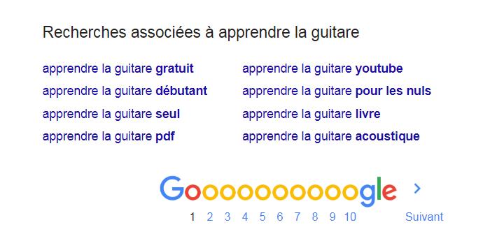 recherches associées google